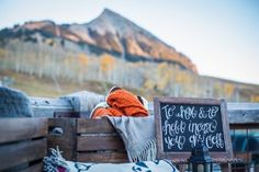To have and to hold in case you get cold. wedding blanket wedding bar. Danielle and Jason's Outdoor Fall Wedding in Crested Butte, Colorado
