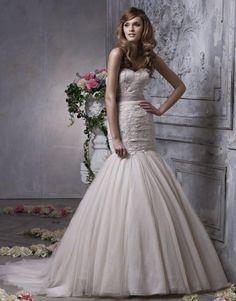 2012 Beautiful Mermaid Style Wedding Dress with Sash