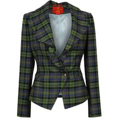 Vivienne Westwood Green & Black Tartan Tailored Jacket