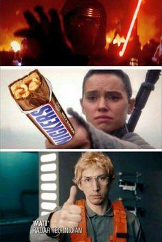 Kylo Ren humor. Eat a snickers