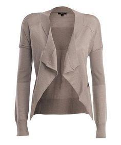 merino wool clothes for women | Tan Elliston Merino Wool Open Cardigan - Women by EMU Australia