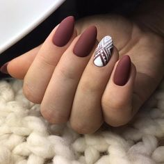 Brown Red Fake Nails Matte Metal Manicure French Long Design Full Cover False Nails with Metal Side Nail Tips - Cute Nails Club Matte Nail Colors, Matte Nail Art, Color Nails, Matte Almond Nails, Matte Gel Nails, Matte Pink, Matte Black, Acrylic Nails, Oval Nails