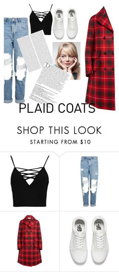 """plaid ones"" by macoron123yeah ❤ liked on Polyvore featuring Boohoo, Topshop, Gucci, Vans, Oris, Cotton Candy and Balmain"