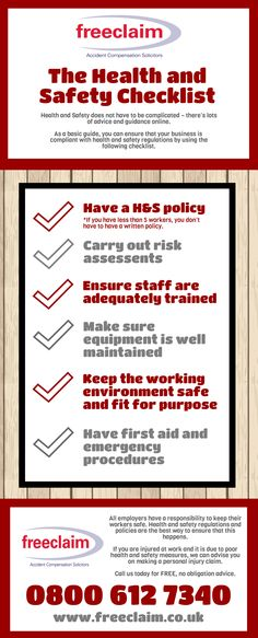 How to avoid workplace accidents Legal Infographic Pinterest - health and safety policy