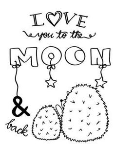 Plotterdatei Love you to the moon Freebie Silhouette Cameo, Moon Coloring Pages, Freebies, Love You, My Love, Bujo, Bullet Journal, To The Moon, Google
