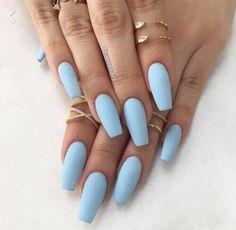 Light blue acrylics