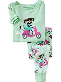 Monkey-Scooter PJ Sets for Baby | Old Navy