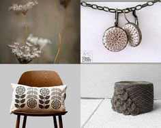 last minute gifts for everyone by Annette Reis on Etsy- #handmade #fiber #textile #crochet #earrings #jewelry #romantic #bohemian #natural #cream #beije #cotton-Pinned with TreasuryPin.com