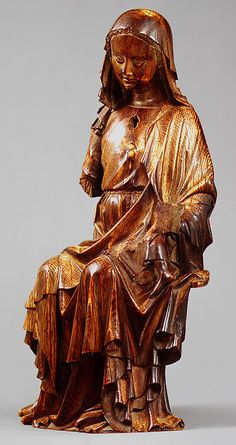 Enthroned Virgin and Child, English, c. 1300