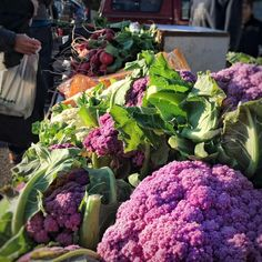 Some amazing purple cauliflowers at the local farmers' market