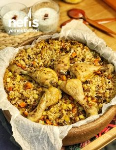 Iftar, Paella, Food And Drink, Meat, Chicken, Ethnic Recipes, Decor, Canoe, Turkish Recipes