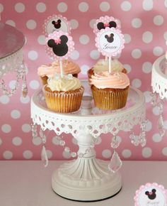 MINNIE MOUSE imprimible Cupcake Toppers por SweetScarletDesigns