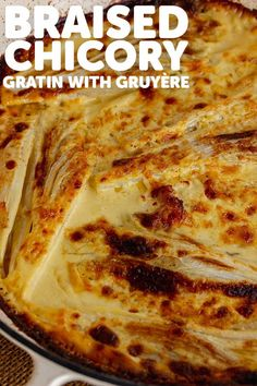 This braised chicory gratin is bathed in garlic spiked cream with a hint of dijon mustard and plenty of gruyère cheese. It's delicious served with a simple salad and some crusty bread. #thecookreport #braisedchicory #gratin #chicory Dinner Recipes Easy Quick, Winter Dinner Recipes, Side Dish Recipes, Quick Easy Meals, Traditional French Recipes, Steak Side Dishes, Wicked Good, Recipe Filing, Easy Salads