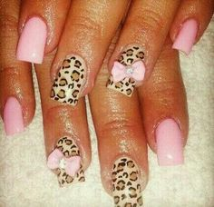 Love the cheetah with light pink