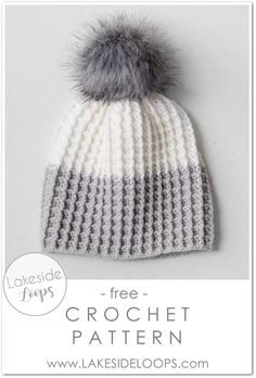 The clean simple lines   cozy thickness of the waffle stitch have my heart! This crochet hat is soft, stretchy, and can be made in a variety of sizes. Colour blocked or solid, this toque is a Winter winner either way. Get the pattern for free or download an inexpensive pdf from Etsy or Ravelry.