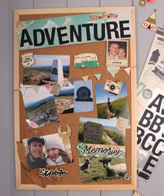 Make sure your special moments are captured, with this cork scrapbook board. All you need are a few photographs along with some embellishments and stickers and you're away!