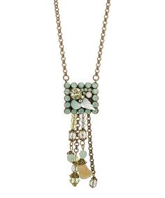 Look at this #zulilyfind! Blue Mixed-Charm Pendant Necklace with Crystals from Swarovski® #zulilyfinds
