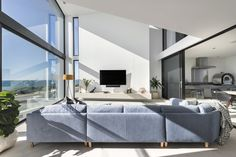 Light filled open living in a coastal home by Urbane Projects. Stone Flooring, Coastal Homes, Bedroom, Interior, Projects, Cottages By The Sea, Log Projects, Blue Prints, Indoor