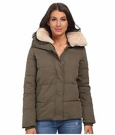 716de6e3 Mavi Jeans Fur Collar Detailed Coat Green Women's Coat / Jacket Size LG  Large Mavi Jeans
