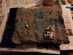 Idea Book Textile Art, Burlap, Reusable Tote Bags, Textiles, Books, Livros, Libros, Hessian Fabric, Book
