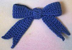 Free Crochet Bow Pattern.