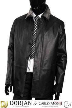 Płaszcz skórzany męski DORJAN MIR755 - Płaszcze skórzane