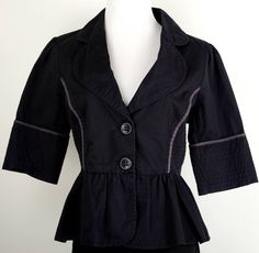 Elevenses for Anthropologie Light Weight Jacket Size 10
