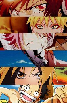 anime | Katekyo Hitman Reborn! | Naruto | Fairy Tail | Bleach | Fullmetal Alchemist | One Piece