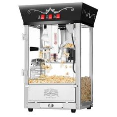 Great Northern Popcorn Red Matinee Movie Theater Style 8 oz Ounce Antique Popcorn Machine >>> Visit the image link more details-affiliate link. Best Popcorn Maker, Construction Clean Up, Great Northern Popcorn, Movie Theater Popcorn, Popcorn Company, Pop Corn, Films Cinema, Glass Panel Door, Glass Panels