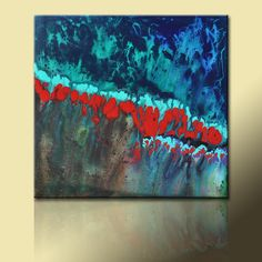 Painting 30 x 30 FIRE and ICE Original Abstract Painting by Brie West. $299.00, via Etsy.