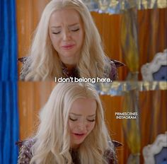 Dove Cameron as Mal I don't belong here!