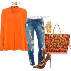 A fashion look from February 2016 featuring Lauren Ralph Lauren blouses, Christian Louboutin pumps and Louis Vuitton handbags. Browse and shop related looks.