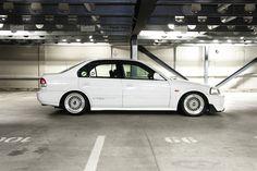 clean white EK sedan