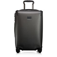 Tumi Carbon Fiber Elvington International Carry-On (€2.280) ❤ liked on Polyvore featuring men's fashion and grey
