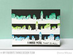 Cityscape card by Donna Mikasa.
