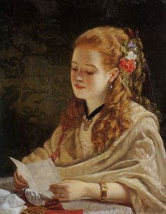 The Letter. William Maw Egley (British, 1826-1916). Egley's early works were illustrations of literary subjects typical of the period and were similar to the work of The Clique. William Powell Frith,...