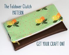 Marissa Fold Over Clutch PDF Sewing Pattern   Etsy Clutch Pattern, Wallet Pattern, Best Leather Wallet, Foldover Clutch, Fusible Interfacing, Card Organizer, Pdf Sewing Patterns, Digital Pattern