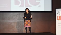 Air Force reservist and intelligence analyst Pam Campos gave a heartfelt speech that moved many #LATINASTHINKBIG guests to tears! Gracias, Pam!