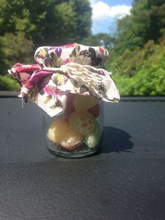 #wedding #sweets #cute #vintage #jar #floral