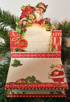 Graphic 45 Post it note holder easel card tutorial using Twas the Night Before Christmas