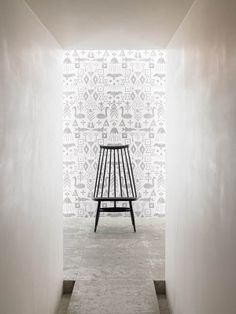 saana ja olli+ Danto co. Ltd Tiles from Finland, inspired by mythical stories. Flur Design, Interior Architecture, Interior Design, Single Chair, Hallway Designs, Design Blogs, Australian Homes, Take A Seat, Wall Treatments