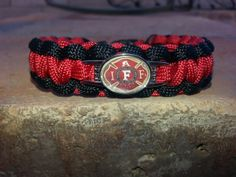 Firefighter Paracord Survival Bracelet by DavesParacords on Etsy, $14.95