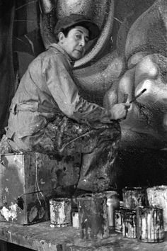 12/29- Happy Birthday, David Alfaro Siqueiros, Mexican artist, muralist, The Mexican Mural Movement, 1896-1974.