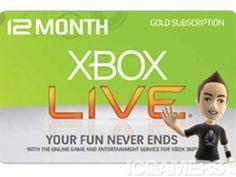 Xbox Live Gold Codes