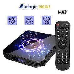 Met deze supersnelle Android tv box H9 X3 4/64GB geniet je van alle online multimedia op je TV, stream series, films, muziek, games en nog veel meer. Een H9 X3 tv box heeft een HDMI-poort, een bekabelde internetaansluiting, dual wifi en Android 9. Streamen van multimedia is dankzij de snelle S905X3 Quad-core een genot. Android Tv, Box, Netflix, Remote, Bluetooth, Meet, Iphone, Snare Drum, Pilot