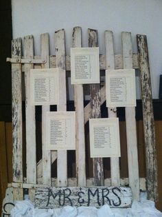 Rustic Seating Chart - Abe Martin Lodge- Melodeon Hall
