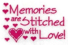Memories are Stitched with Love - 4x4 | What's New | Machine Embroidery Designs | SWAKembroidery.com Starbird Stock Designs
