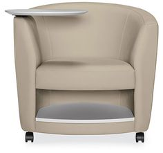 Sirena mobile club chairs with tablet arm and storage below