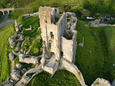 Corfe castle in Dorset. Going there on holiday...