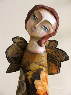Butterfly wings - art doll